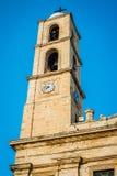 Greece Crete, Chania Xania church in the center of city on blu Stock Image