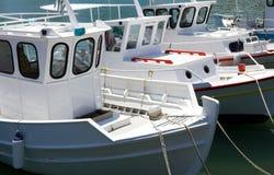 Greece. Crete, fishermen boats in the Iraklio harbor Stock Image