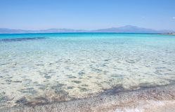 Greece, Crete Island, the most beautiful background of Mediterranean beach at Chrisi Island royalty free stock images