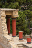 Greece Crete Knossos Palace ruins Stock Image