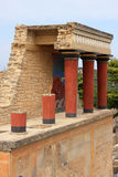 Greece Crete Knossos Palace ruins Stock Image