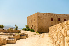 Greece Crete Rethymnon Fortezza ruins of an old house. In the grounds Royalty Free Stock Image