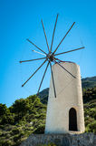 Greece, Crete, Windmills on the green hill Royalty Free Stock Images