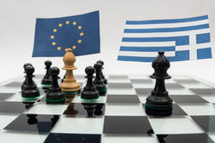 Greece crisis Stock Image