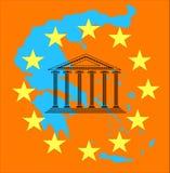 Greece crisis and euro Stock Photo