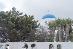 Greece. The Cyclades Islands. Santorini on a Sunny day. royalty free stock photos