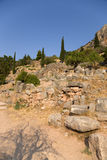 Greece. Delphi. Ancient ruins Stock Photos
