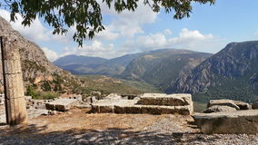 Greece. Delphi. Landscape in the reserve 7 September 2016 Royalty Free Stock Images