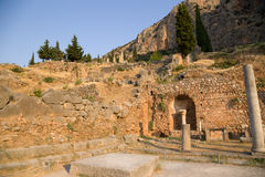 Greece. Delphi. Ruins Royalty Free Stock Photo