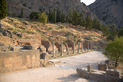 Greece. Delphi. Ruins Royalty Free Stock Images