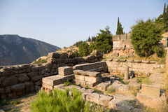 Greece. Delphi. Ruins royalty free stock image