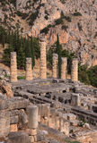 Greece Delphi Temple of Apollo Stock Photography