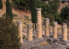 Greece Delphi Temple of Apollo Royalty Free Stock Photos