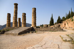 Greece. Delphi. The Temple of Apollon Stock Images