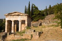 Greece. Delphi. Treasury of Athens royalty free stock photography