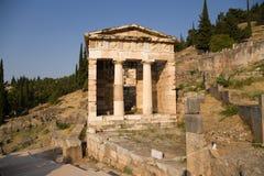 Greece. Delphi. Treasury of Athens royalty free stock image