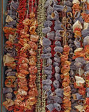 Greece, dried vegetables at the central market Stock Images