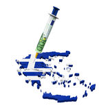Greece Economic Crisis Illustration. Isolated on white background. 3D render Stock Photo