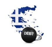 Greece Economic Crisis Illustration. Isolated on white background. 3D render Royalty Free Stock Photos