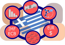 Greece and Economics Stock Images