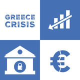Greece economy crisis Royalty Free Stock Photos