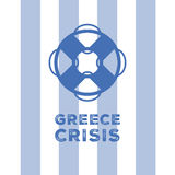 Greece economy crisis Royalty Free Stock Image