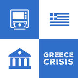 Greece economy crisis Royalty Free Stock Images
