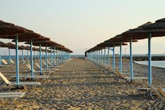 Greece empty summer beach Royalty Free Stock Photo