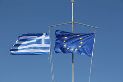 Greece and euro flag Stock Photography