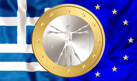 Greece and Euro Royalty Free Stock Image