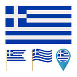 Greece, Europe, country flag vector Stock Photos