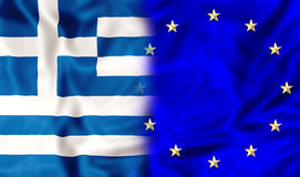 Greece and Europe royalty free illustration