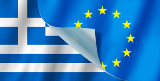 Greece and Europe flag Stock Photography