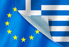 Greece and Europe flag Royalty Free Stock Image