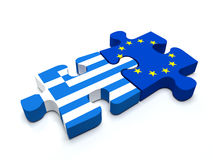 Greece - European Union Puzzle Royalty Free Stock Images