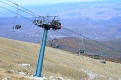 greece för stadsdramafalakro berg nära till Fotografering för Bildbyråer