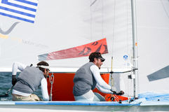 Greece finishes 5th at the ISAF Sailing Wold Cup in Miami. Miami, USA, February 1, 2014 - Greece finished 5th at the ISAF Sailing World Cup in Miami.  The event Stock Photo