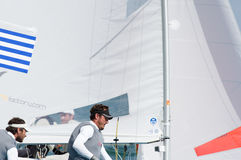 Greece finishes 5th at the ISAF Sailing Wold Cup in Miami. Miami, USA, February 1, 2014 - Greece finished 5th at the ISAF Sailing World Cup in Miami.  The event Royalty Free Stock Images