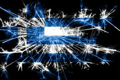 Greece fireworks sparkling flag. New Year 2019 and Christmas party concept. Greece fireworks sparkling flag. New Year 2019 and Christmas party concept stock illustration