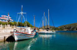 Greece, fishermen boats Stock Photos