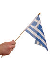 Greece flag. Royalty Free Stock Photo