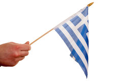 Greece flag. Stock Photos