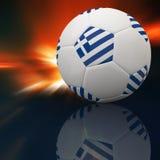 Greece flag on 3d Football. For Euro 2012 Group A Stock Photos