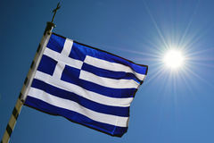 Free Greece Flag Royalty Free Stock Images - 88646929