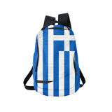 Greece flag backpack isolated on white Royalty Free Stock Image