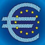 Greece flag and euro symbol Stock Images