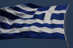 Greece flag - Flag of Greece. Hellenic Republic. Greece flag - Flag of Greece. Hellenic Republic Stock Image