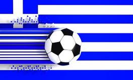 Greece flag and football Stock Photography