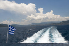 Greece flag Royalty Free Stock Photography