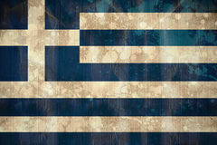 Greece flag in grunge effect Stock Photos